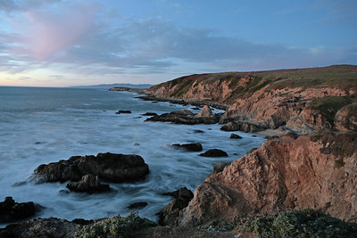 Bodega Bay is a small shallow, sand-choked inlet of the Pacific Ocean on the coast of northern California in the United States. It is approximately 5 miles (8 km) across and is located approximately 40 miles (64 km) northwest of San Francisco and 30 miles (48 km) west of our home in Petaluma. The bay straddles the boundary between Sonoma (north) and Marin (south) counties.