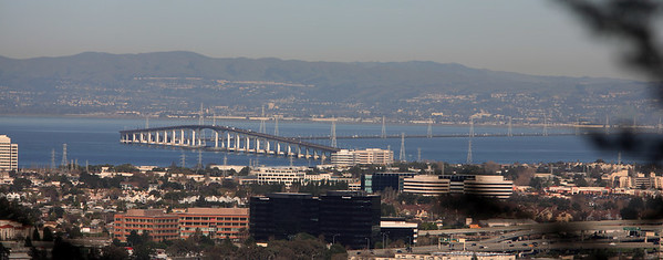 This is a view of the San Mateo Bridge from my office