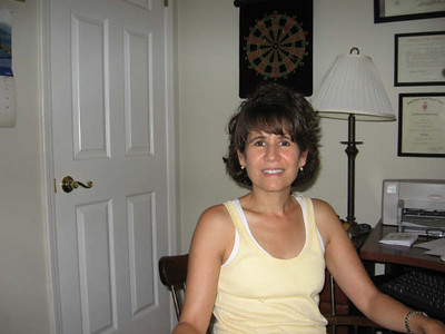 My sister Elena at home in Atlanta