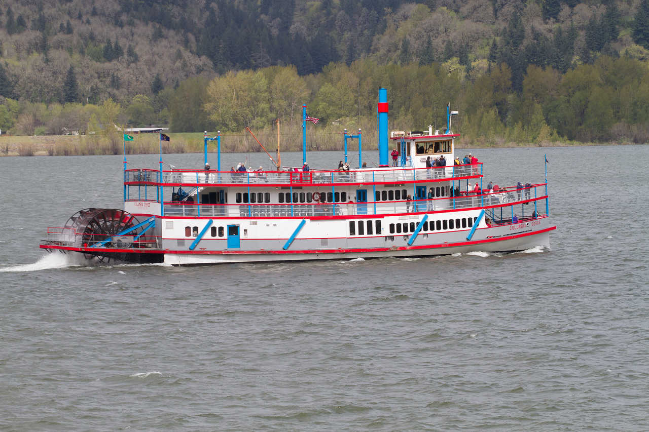 Paddlewheel On the Columbia Gorge