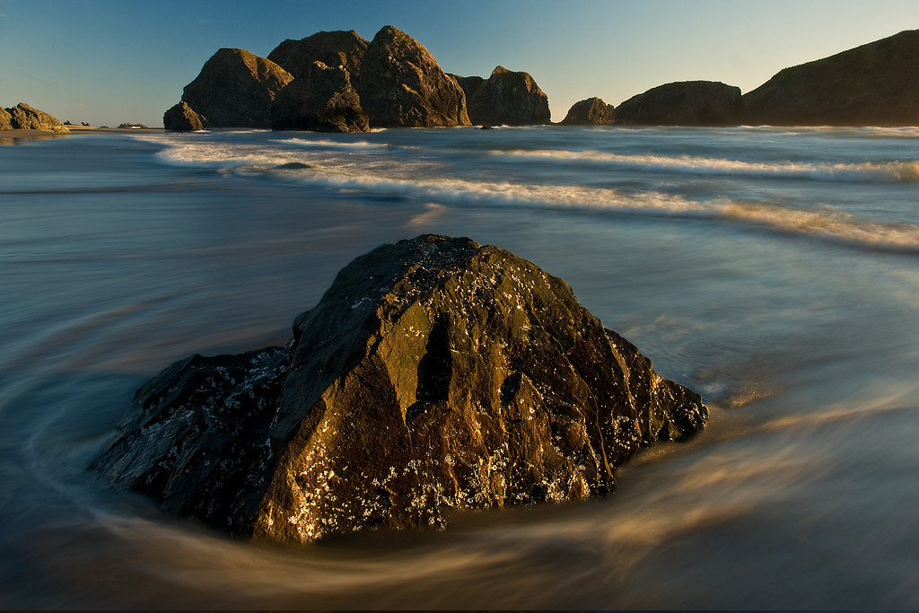 Receding Tide.<br /> Meyers Creek Beach, Oregon