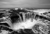 Thor's Well in Black and White