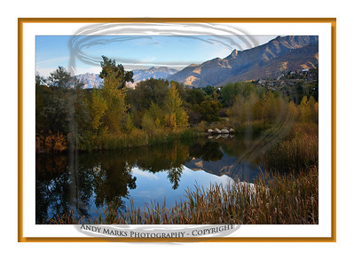 """Almost the same park pond image; just added a """"faux mat"""" per """"Outdoor Photographer"""", Oct 2010, pg90"""