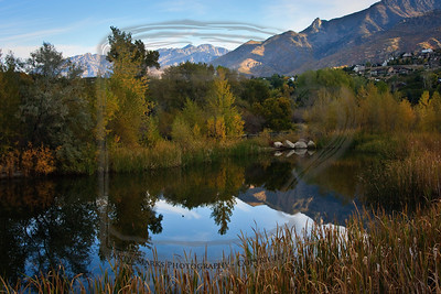 Happy to have my 40D along this morning. The park pond was in the mountain's shadow still. DDell Pk, 16Oct10