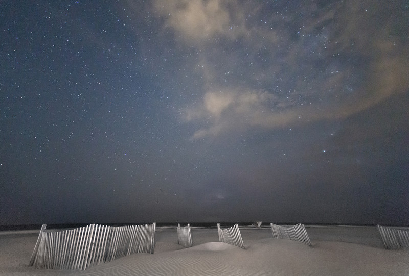 Night sky, Folly Beach