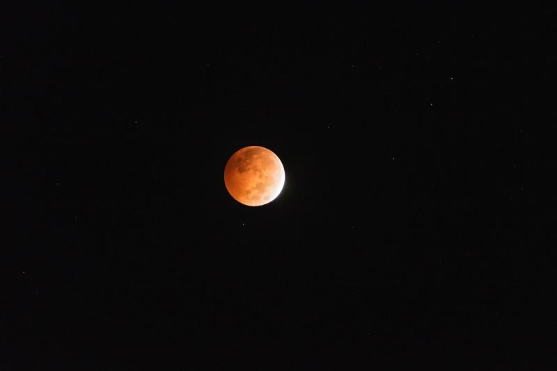 Progression of the total lunar eclipse of October 8, 2014