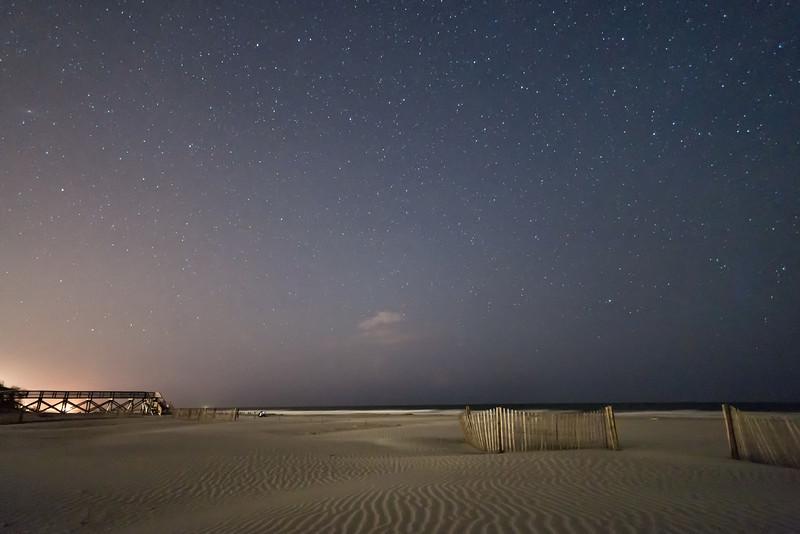 Night sky, Folly Beach