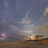 Night sky over Folly Beach