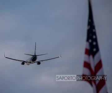 Alaska 737-900 with Flag