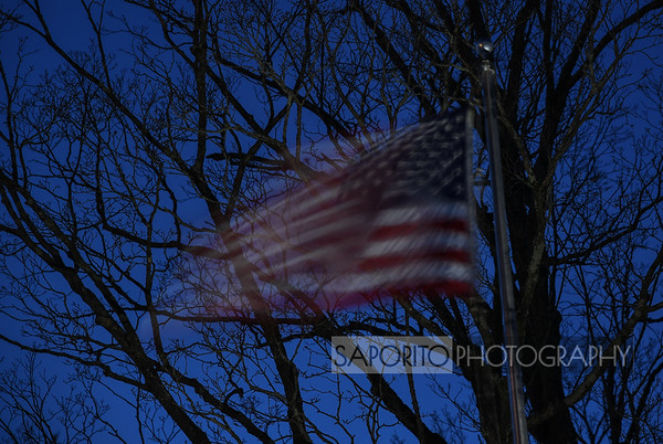 Night Flag in the Wind