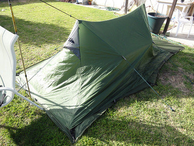 Another view of the back of the tent.