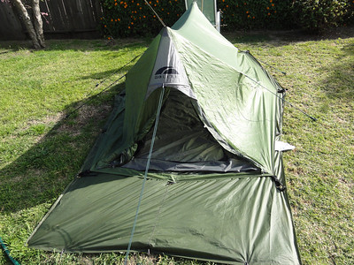 Here is the front view, this tent is really big on the inside. A full 9 feet long and 4.5 feet wide.