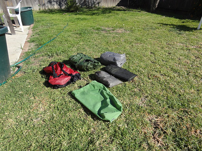 Still more stuff comes out from the rain fly bag, foot print and a small bag of stuff needed to set up the tent.