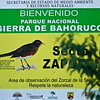 The welcome sign to the National Park, the sector Zapoten of the Sierra de Bahoruco.