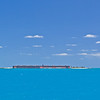A distant view of Fort Jefferson.