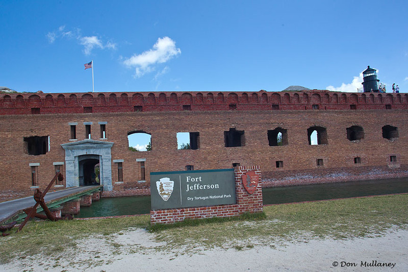 The fort's entry.