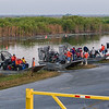 Workers leave the boat launch to head into the preserve to battle the Melaleuca Tree invasion - Loxahatchee NWR