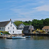Lobster traps and buoys in Vinalhaven, Me.