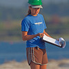 This is Brinkley, she is an Audubon tech doing a nest survey. Notice the hardhat needed to protect her from the divebombing Terns.