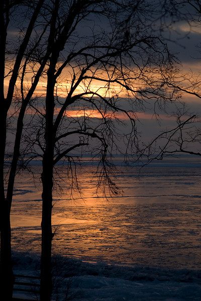 Christmas Sunset 2008 - Catawba, Ohio - Overlooking frozen Lake Erie