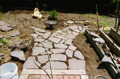 2000: Pavers and Garden do-over