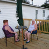 While I was taking in the scenery, Pam and Melissa were chatting on the new deck.