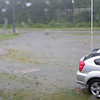The front yard also became a lake and the roadside ditch filled up.