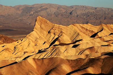 Zabriskie Point Sunrise In Death Valley National Park