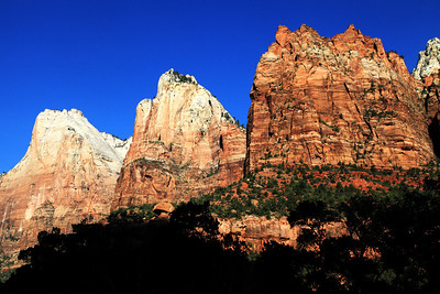 The Court Of The Patriarchs In Zion National Park