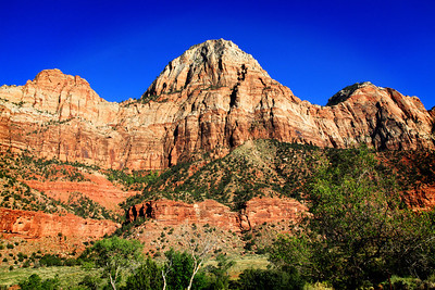 Bridge Mountain In Zion National Park