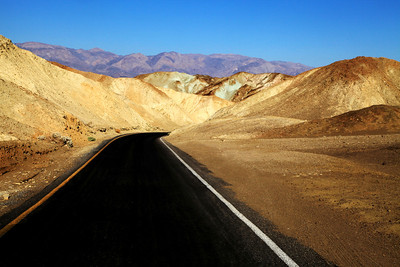 Driving Into Death Valley National Park