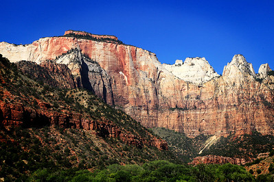 The Streaked Wall And The Bee Hives In Zion National Park