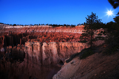 Morning Moon Over Bryce Canyon