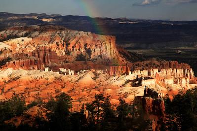 Rainbow Over Bryce Canyon National Park