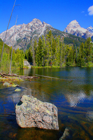 Hiking At Taggart Lake In Grand Teton National Park