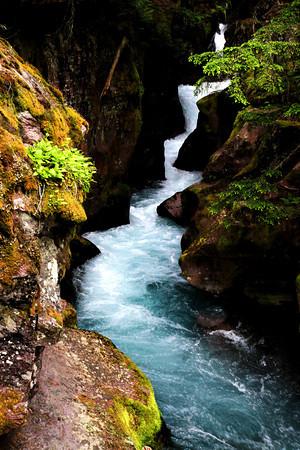 Avalanche Falls in Glacier National Park