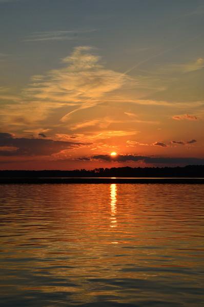 Sunset near Kent Narrows - 01/07/12