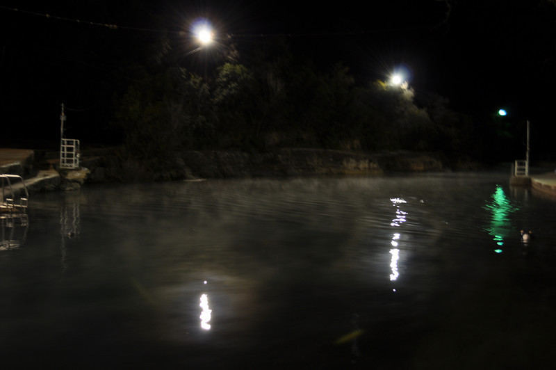 Barton Springs, cold Friday night in December