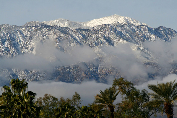 snowy sj above the clouds 074 <br /> A closeup of the snow atop San Jacinto peak.