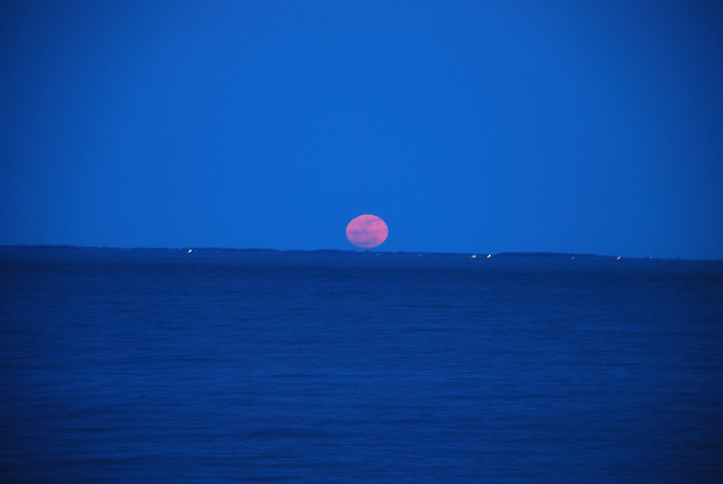 Perigee Moon Rise, Chesapeake Beach Pier, Maryland - 03/19/2011