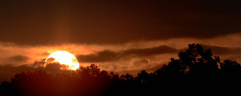 Sunrise over Petite Jean Park, AR  July 2014