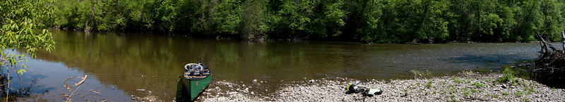 Canoeing the Cannon River. A panoramic stitch of 6 photos.