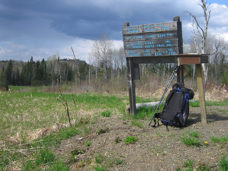 The official end of the Lake Superior Hiking trail