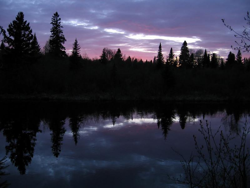 <div align=center>Sunset on the Superior Hiking Trail</div>
