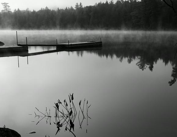 Foggy dawn #2, an Adirondack lake
