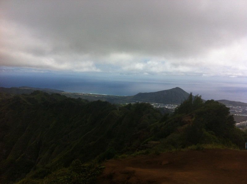 Way higher than Koko head now... Yes, there are volcanic craters everywhere here. Cool...