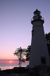 Early morning sunrise, Lake Erie OH.
