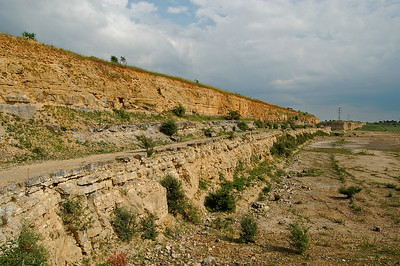 Looking South along the terrace on the old quarry wall