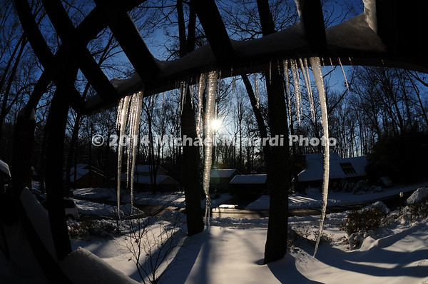 Long Icicles with sunset  img110B