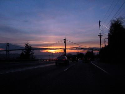 St. John's Bridge at Sunrise